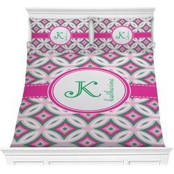 Linked Circles & Diamonds Comforter Set (Personalized)