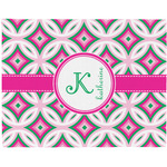 Linked Circles & Diamonds Placemat (Fabric) (Personalized)