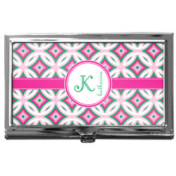 Linked Circles & Diamonds Business Card Case