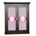 Linked Circles & Diamonds Cabinet Decal - Custom Size (Personalized)