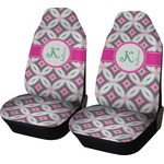 Linked Circles & Diamonds Car Seat Covers (Set of Two) (Personalized)