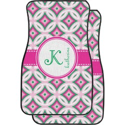 Linked Circles & Diamonds Car Floor Mats (Front Seat) (Personalized)