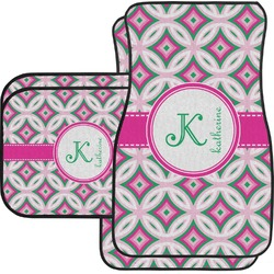Linked Circles & Diamonds Car Floor Mats (Personalized)