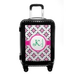 Linked Circles & Diamonds Carry On Hard Shell Suitcase (Personalized)
