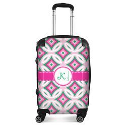 Linked Circles & Diamonds Suitcase (Personalized)