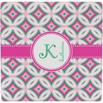 Linked Circles & Diamonds Ceramic Tile Hot Pad (Personalized)