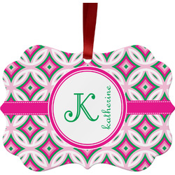 Linked Circles & Diamonds Ornament (Personalized)