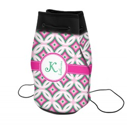 Linked Circles & Diamonds Neoprene Drawstring Backpack (Personalized)