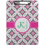 Linked Circles & Diamonds Clipboard (Personalized)