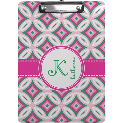 Linked Circles Amp Diamonds Clipboard Letter Size