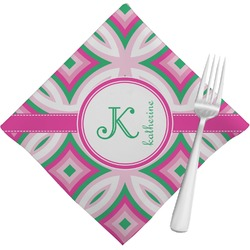 Linked Circles & Diamonds Cloth Napkins (Set of 4) (Personalized)