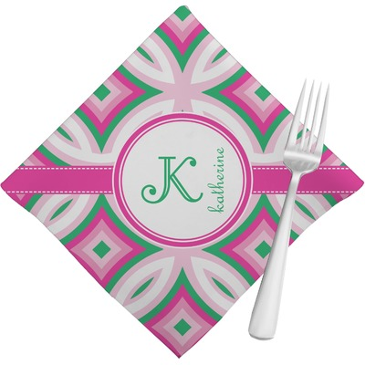 Linked Circles & Diamonds Napkins (Set of 4) (Personalized)