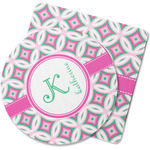 Linked Circles & Diamonds Rubber Backed Coaster (Personalized)