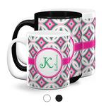 Linked Circles & Diamonds Coffee Mugs (Personalized)