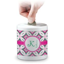 Linked Circles & Diamonds Coin Bank (Personalized)