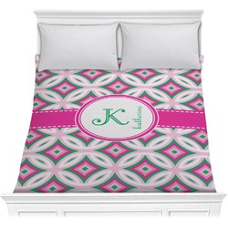 Linked Circles & Diamonds Comforter (Personalized)