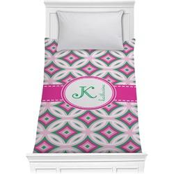 Linked Circles & Diamonds Comforter - Twin (Personalized)