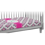 Linked Circles & Diamonds Crib Fitted Sheet (Personalized)