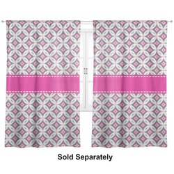 """Linked Circles & Diamonds Curtains - 40""""x54"""" Panels - Lined (2 Panels Per Set) (Personalized)"""