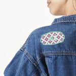 Linked Circles & Diamonds Large Custom Shape Patch (Personalized)
