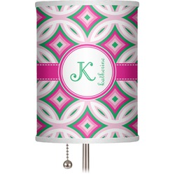 "Linked Circles & Diamonds 7"" Drum Lamp Shade (Personalized)"