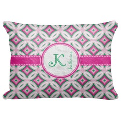 "Linked Circles & Diamonds Decorative Baby Pillowcase - 16""x12"" (Personalized)"
