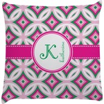 Linked Circles & Diamonds Decorative Pillow Case (Personalized)