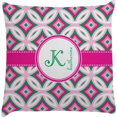 Linked Circles & Diamonds Decorative Pillow Case (Personalized)