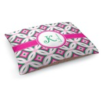 Linked Circles & Diamonds Dog Bed (Personalized)