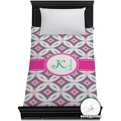 Linked Circles & Diamonds Duvet Cover - Twin (Personalized)