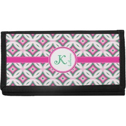Linked Circles & Diamonds Canvas Checkbook Cover (Personalized)