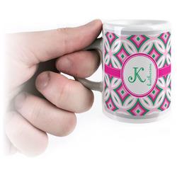 Linked Circles & Diamonds Espresso Mug - 3 oz (Personalized)