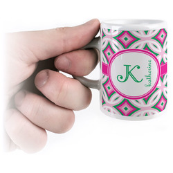 Linked Circles & Diamonds Espresso Mug - 3 oz (Personalized)