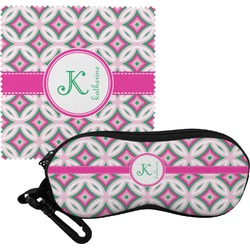 Linked Circles & Diamonds Eyeglass Case & Cloth (Personalized)