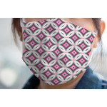 Linked Circles & Diamonds Face Mask Cover (Personalized)