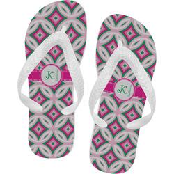 Linked Circles & Diamonds Flip Flops (Personalized)