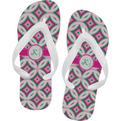 Linked Circles & Diamonds Flip Flops (Personalized)