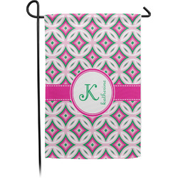 Linked Circles & Diamonds Garden Flag - Single or Double Sided (Personalized)