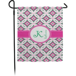 Linked Circles & Diamonds Garden Flag (Personalized)
