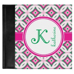 Linked Circles & Diamonds Genuine Leather Baby Memory Book (Personalized)