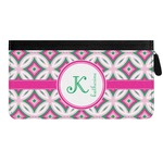 Linked Circles & Diamonds Genuine Leather Ladies Zippered Wallet (Personalized)