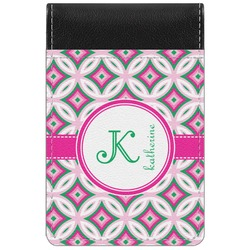Linked Circles & Diamonds Genuine Leather Small Memo Pad (Personalized)