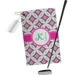 Linked Circles & Diamonds Golf Towel Gift Set (Personalized)