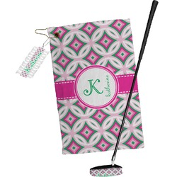 Linked Circles & Diamonds Golf Towel Gift Set (Personalized)
