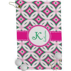 Linked Circles & Diamonds Golf Towel - Full Print (Personalized)