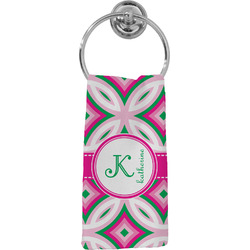 Linked Circles & Diamonds Hand Towel - Full Print (Personalized)