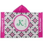 Linked Circles & Diamonds Kids Hooded Towel (Personalized)