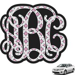 Linked Circles & Diamonds Interlocking Monogram Car Decal (Personalized)