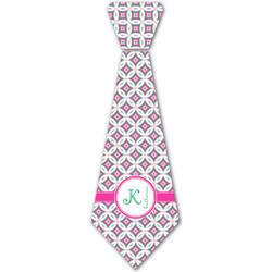 Linked Circles & Diamonds Iron On Tie - 4 Sizes w/ Name and Initial