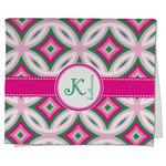 Linked Circles & Diamonds Kitchen Towel - Full Print (Personalized)